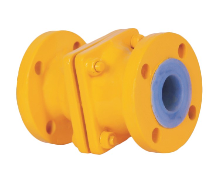 PTFE / FEP / PFA Lined Non Return Valve Manufacturer, Supplier, and Exporters - Sigma Polymers Engineering Company in Gujarat, India