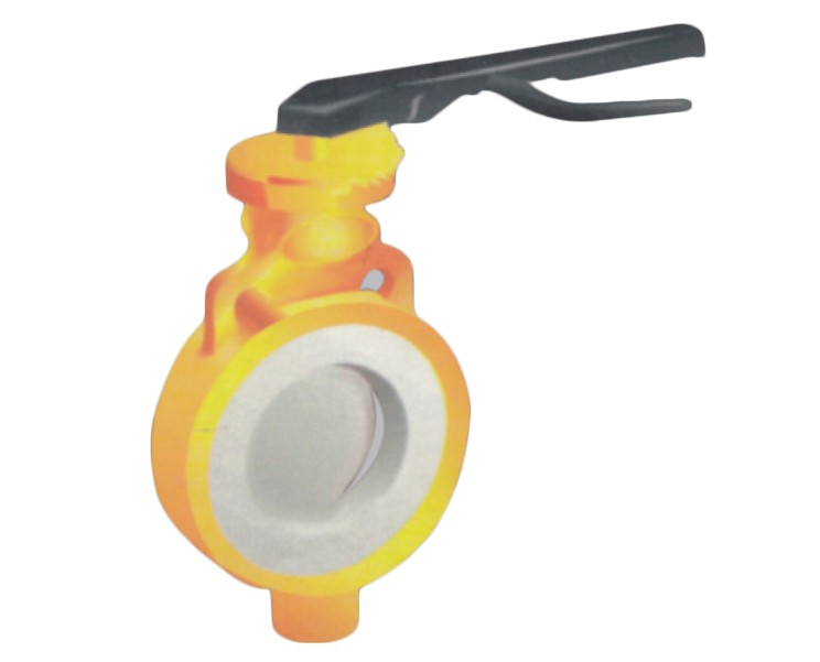 PFA / FEP Lined Butterfly Valve Manufacturer, Supplier, and Exporters - Sigma Polymers Engineering Company in Gujarat, India
