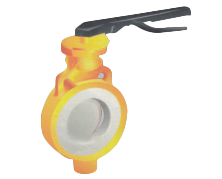Pfa/fep Lined Butterfly Valve Gujarat, India