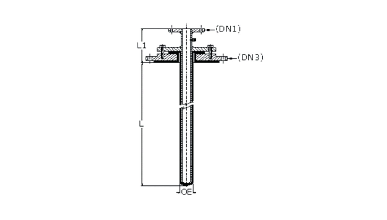 Closed End Dip Pipe diagram