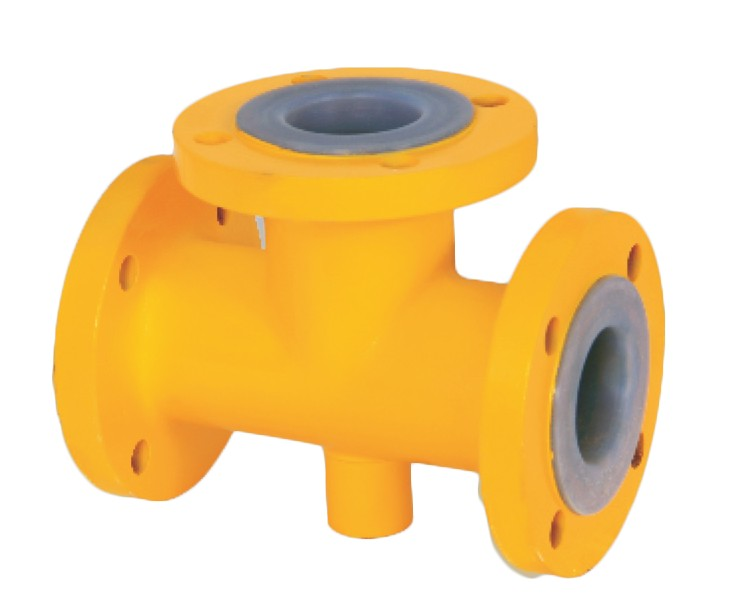 Lined Equal Tees, FEP / PFA / HDPE / PP Lined Equal Tees Manufacturers in Gujarat, India