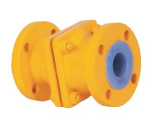Manufacturer, Supplier, and Exporters of PTFE / FEP / PFA Lined Non Return Valve in Gujarat, India - Sigma Polymers Engineering Company